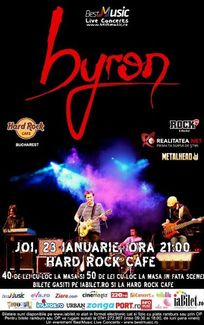 Concert Byron la Hard Rock Cafe din Bucuresti