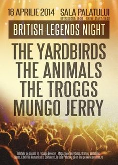 British Legends Night: Patru trupe legendare pe scena Salii Palatului