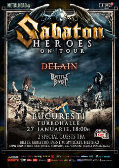 Sabaton la Bucuresti: Inca o categorie de bilete Sold Out !