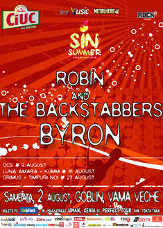 Concert Robin and the Backstabbers si byron pe 2 august la Sin Summer Goblin Vama Veche