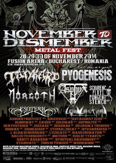 Ultimele detalii despre November to Dismember Metal Festival 2014