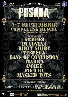 Programul Festivalului Posada Rock - editia 2014