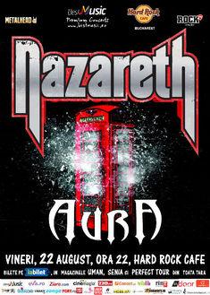 Programul concertului Nazareth si Aura de diseara din Hard Rock Cafe
