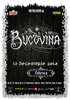 Despre munti si vraji cu BUCOVINA pe 13 decembrie la fabrica in Bucuresti