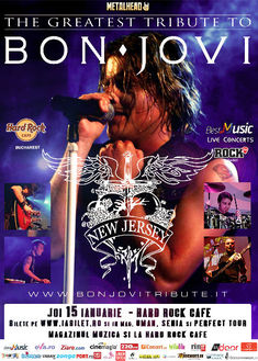 Best Bon Jovi Live Tribute cu New Jersey pe 15 ianuarie la Hard Rock Cafe