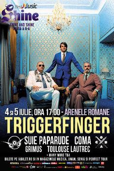 Triggerfinger, primul headliner confirmat la festivalul Shine 2015 din Bucuresti