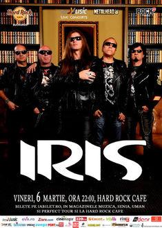 Concert Iris la Hard Rock Cafe pe 6 martie