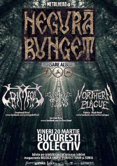 Poze cu Negura Bunget, Northern Plague, Grimgod si An Theos in Colectiv