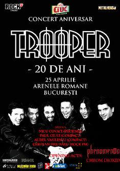 Concert aniversar Trooper 20 la Arenele Romane pe 25 Aprilie