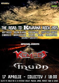 Astazi in Colectiv, Kempes si Truda alaturi de alte 10 formatii la The Road to Kavarna Rock 2015