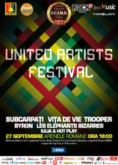 Vita de Vie, Trooper, Les Elephants Bizarres, Subcarpati si altii canta in a doua zi de United Artists Festival