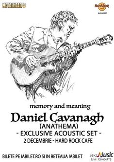 Meet & Greet cu Daniel Cavanagh (Anathema) la Hard Rock Cafe