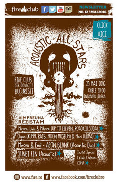 Acoustic All Stars - Concert caritabil pe 25 Mai in Club Fire