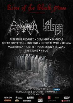 Lineup final pentru festivalul Rites of the Black Mass