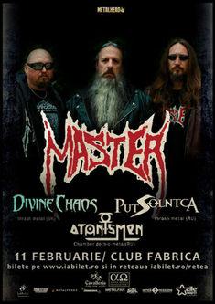 Master, Divine Chaos, Put Solnca si Atonismen concerteaza pe 11 februarie in Club Fabrica