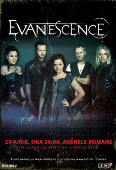 Evanescence la Bucuresti: a doua categorie de bilete SOLD OUT !