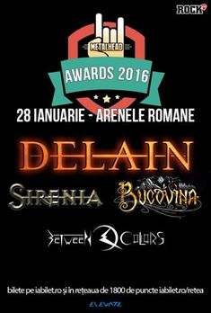 Delain, Sirenia, Bucovina si Between Colors la METALHEAD Awards: Program si Reguli de Acces