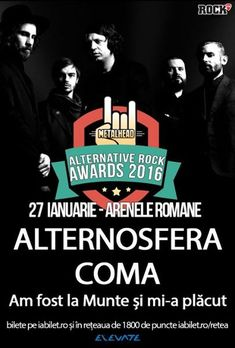 ALTERNOSFERA, COMA si AFLMSMP la METALHEAD Alternative Rock Awards: Program si Reguli de Acces