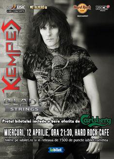 Blade Strings canta alaturi de Kempes la Hard Rock Cafe