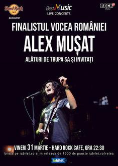 Concert Alex Musat & Band pe 31 martie la Hard Rock Cafe
