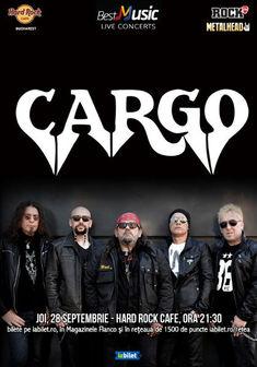 Concert CARGO pe 28 septembrie la Hard Rock Cafe