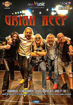 Concert Uriah Heep pe 12 Noiembrie la Hard Rock Cafe