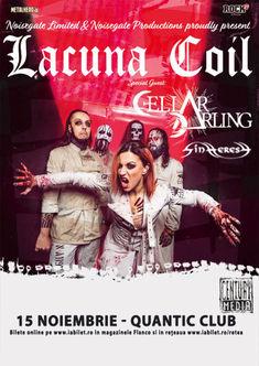 Poze de la concertul Lacuna Coil, Cellar Darling si Sinheresy din Quantic