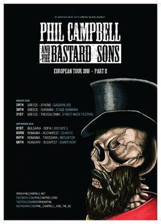 Programul concertului Phil Campbell and The Bastard Sons din Quantic