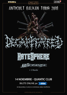Grimaze si Dehydrated vor canta in deschidere la Decapitated