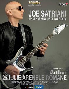 Concert Joe Satriani la Bucuresti pe 25 Iulie