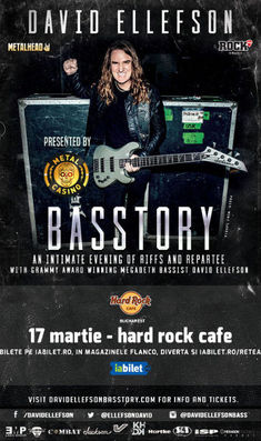 David Ellefson (Megadeth): an intimate evening pe 17 Martie la Hard Rock Cafe