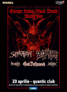 Suffocation, Belphegor si God Dethroned la Bucuresti pe 23 Aprilie