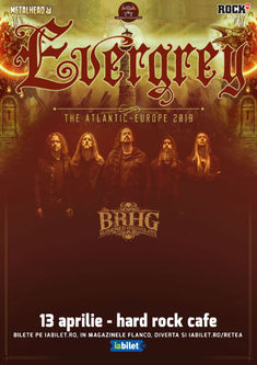 Concert Evergrey la Hard Rock Cafe pe 13 Aprilie