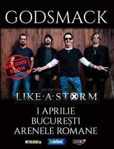 Godsmack la Arenele Romane pe 1 Aprilie: Program si Reguli de acces