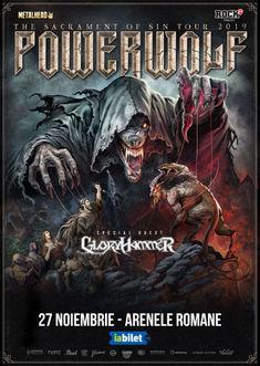 Poze de la concertul Powerwolf