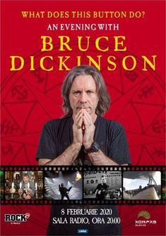 Bruce Dickinson, solistul Iron Maiden, vine la Bucuresti pe 8 Februarie 2020