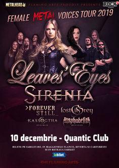 The Female Metal Voices Tour 2019 la Bucuresti pe 10 Decembrie