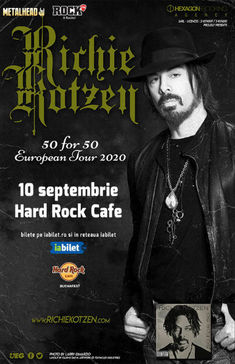 Concert Richie Kotzen: 50 for 50 pe 10 Septmebrie la Hard Rock Cafe