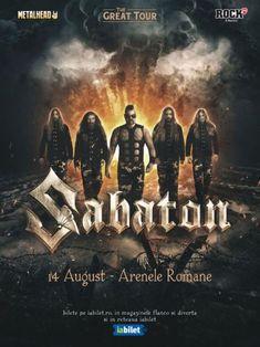SABATON - The Great Tour s-a reprogramat pentru 12 iulie 2021 la Arenele Romane