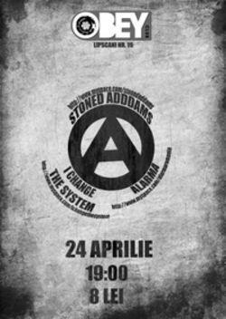 Concert Stoned Addams, Alarma si I Change The System in Club Obey