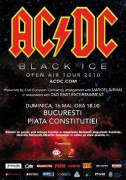 Concert AC/DC in Romania la Bucuresti pe 16 mai 2010