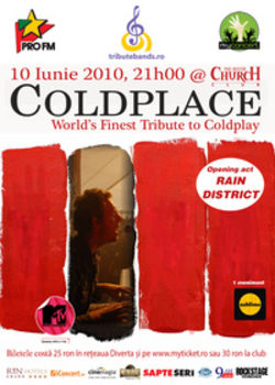 Concert tribut Coldplay in Club Silver Church din Bucuresti