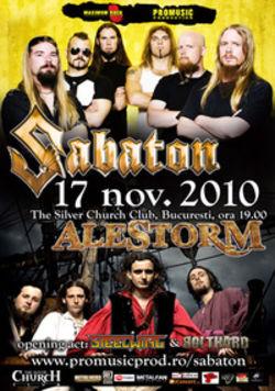 Concert Sabaton si Alestorm in Silver Church Club din Bucuresti