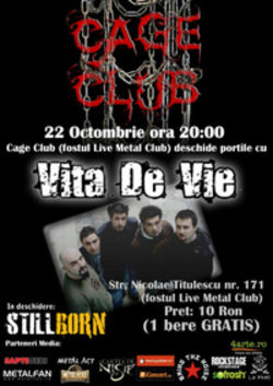 Concert Vita De Vie in Cage Club din Bucuresti