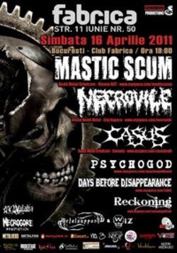 Concert Mastic Scum, Necrovile si multi altii in club Fabrica