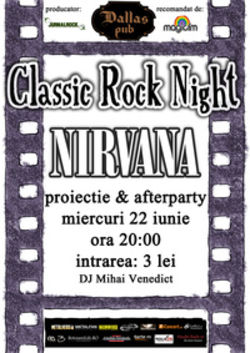 Nirvana Classic Rock Night la Dallas Pub din Botosani