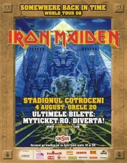 Iron Maiden concerteaza la Bucuresti pe Stadionul Cotroceni