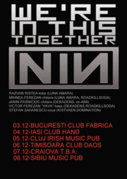 Concert tribut Nine Inch Nails in Cluj-Napoca