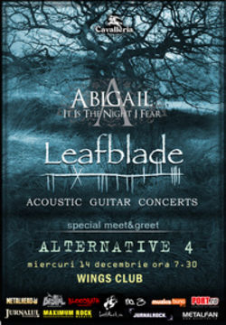 Concert Leafblade si Abigail in Wings Club