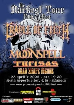Cradle Of Filth si Moonspell la Cluj-Napoca